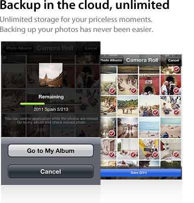 Backup in the cloud,unlimited